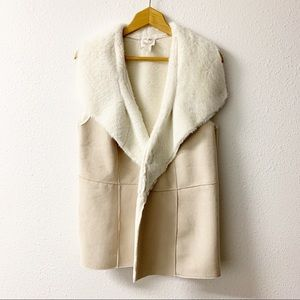 Chico's Faux Suede cream coloured vest.